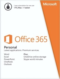 Microsoft Office 365 Personal SK 32/64bit Medialess 1r.